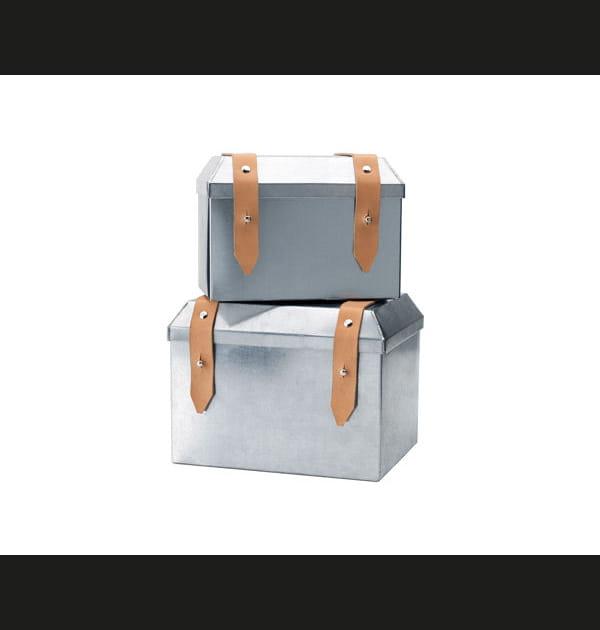 Boîtes en métal et cuir Ryssby d'IKEA
