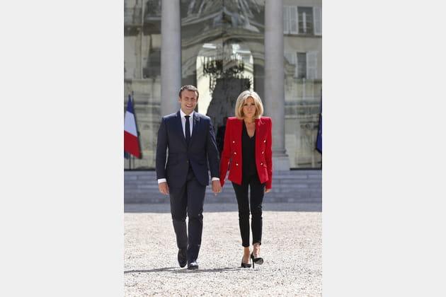 Brigitte Macron le 6juillet 2017