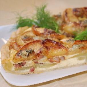 tarte aux pommes, fenouil et gorgonzola
