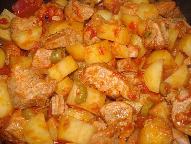 Recette de saut de porc aux tomates et olives la - Cuisiner des joues de porc ...
