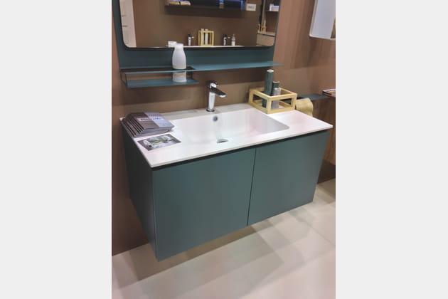 meuble vasque bleu p trole chez arblu. Black Bedroom Furniture Sets. Home Design Ideas