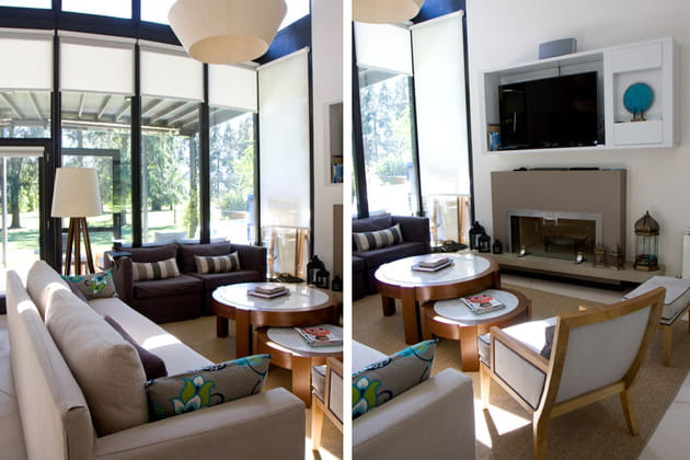 un salon cosy et branch. Black Bedroom Furniture Sets. Home Design Ideas