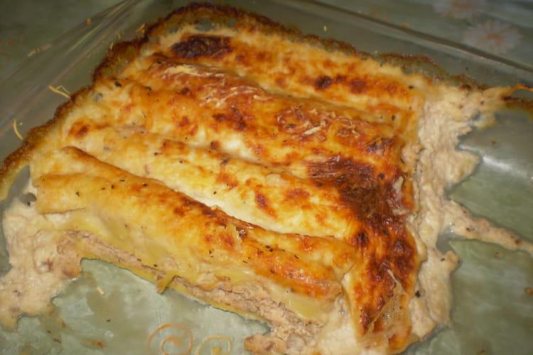 Cannelloni  saumon frais et champignons