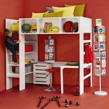 lit mezzanine duplex blanc de la redoute. Black Bedroom Furniture Sets. Home Design Ideas