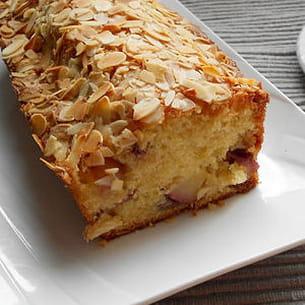 cake aux pêches plates et amandes