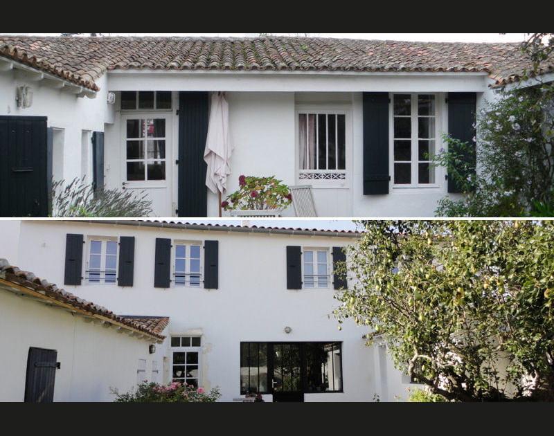 Avant-après: une maison rénovée à l'Île de Ré