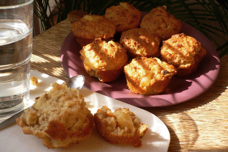 Muffins noisettines à l'ananas