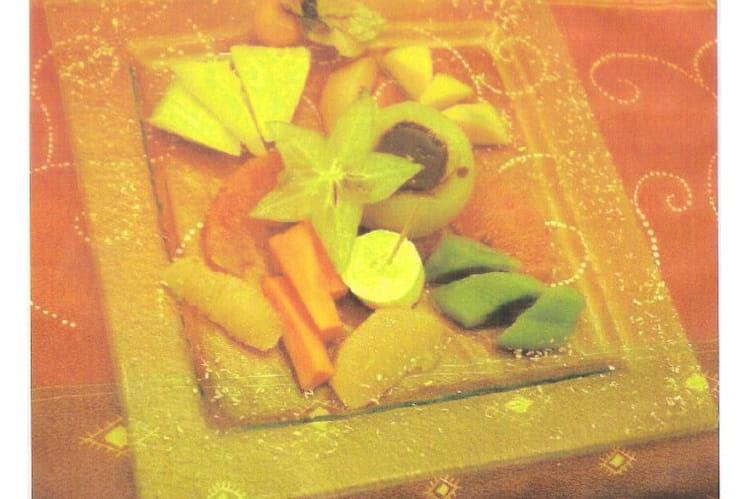 Fondue au chocolat et fruits