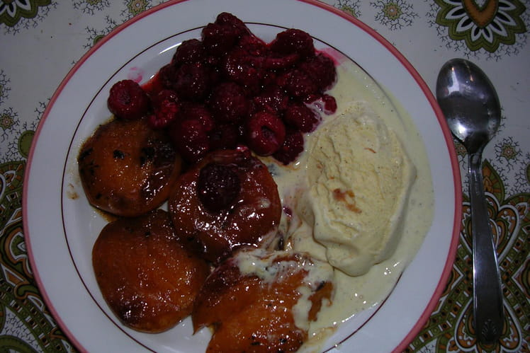Méli mélo de fruits glacé