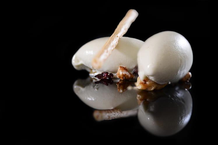 Crème glacée au roquefort