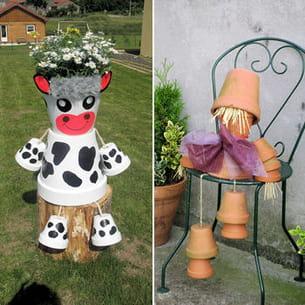 pots de fleurs d tourn s pour un maximum d 39 effet. Black Bedroom Furniture Sets. Home Design Ideas