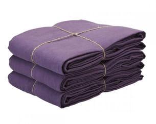 housse de couette violette en lin de merci
