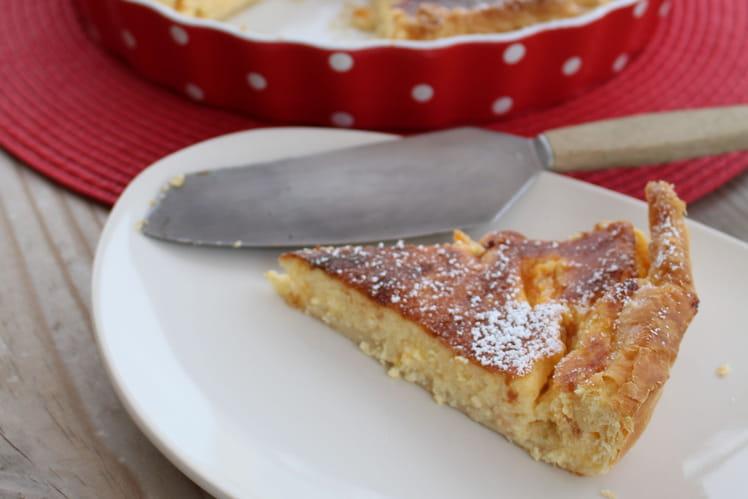 Tarte aux petits suisses et abricots