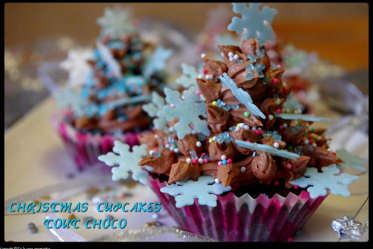 Christmas cupcakes tout chocolat