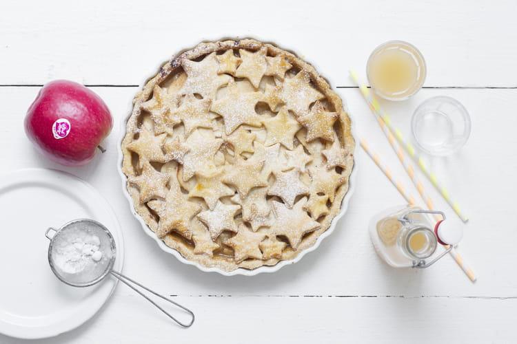 Tarte étoilée aux pommes à la cannelle et à la vanille