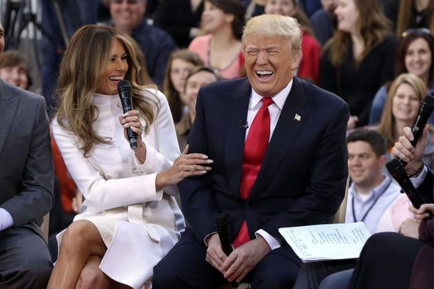 Donald et Melania Trump ont réalisé qu'ils étaient à la tête des Etats-Unis