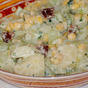 salade de concombre et pomme de terre