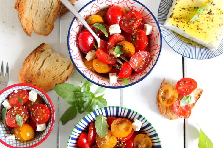 Tomates cerises marinées apéritives