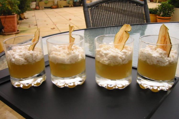 Riz au lait et gelée de pomme verte