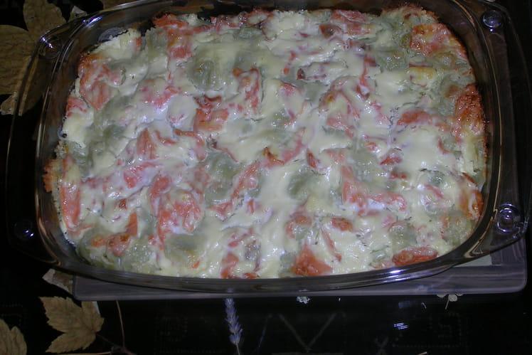 Ravioles au saumon et à la courgette