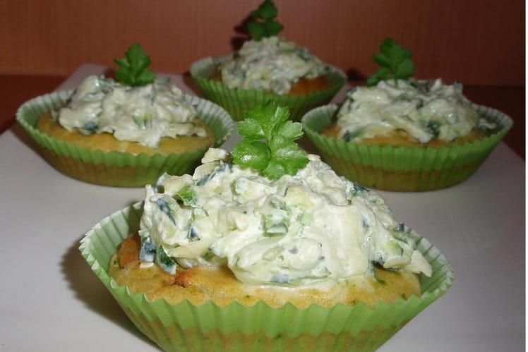 Cupcakes aux courgettes & chèvre frais