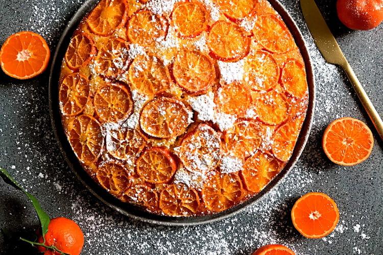 Gâteau moelleux aux clémentines