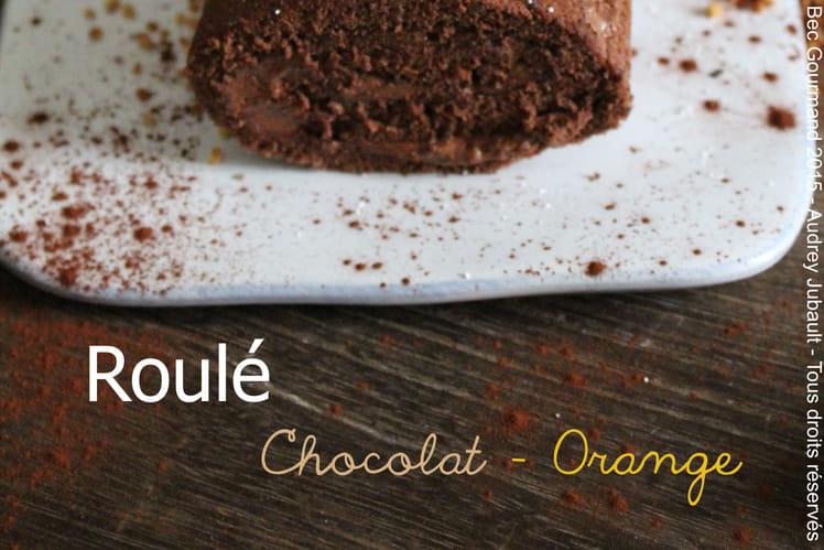 Roulé au chocolat et orange