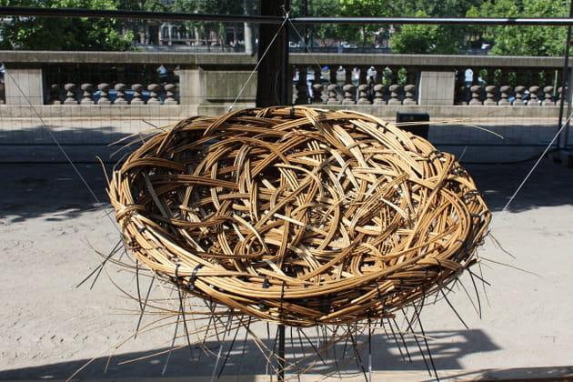Une balançoire façon nid d'oiseau