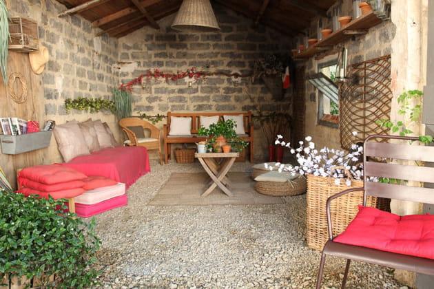 Je veux le même à la maison: un salon de jardin boho-chic