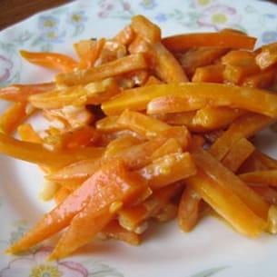 bâtonnets de carottes au miel