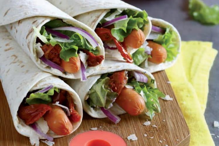 Wraps aux légumes et Knacki®