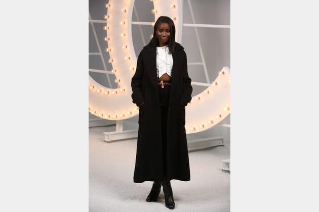 Karidja Touré au défilé Chanel