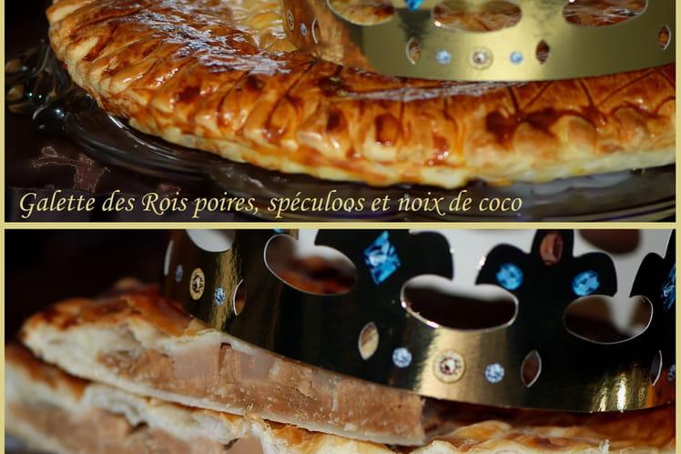 Galette des Rois poires, spéculoos et noix de coco