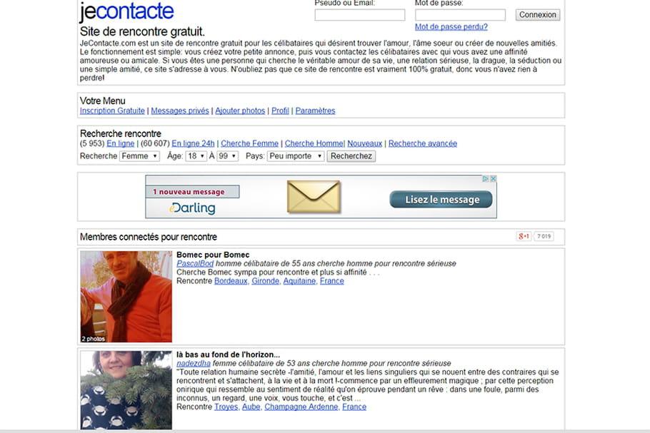 Site de rencontres : le point sur Jecontacte.com