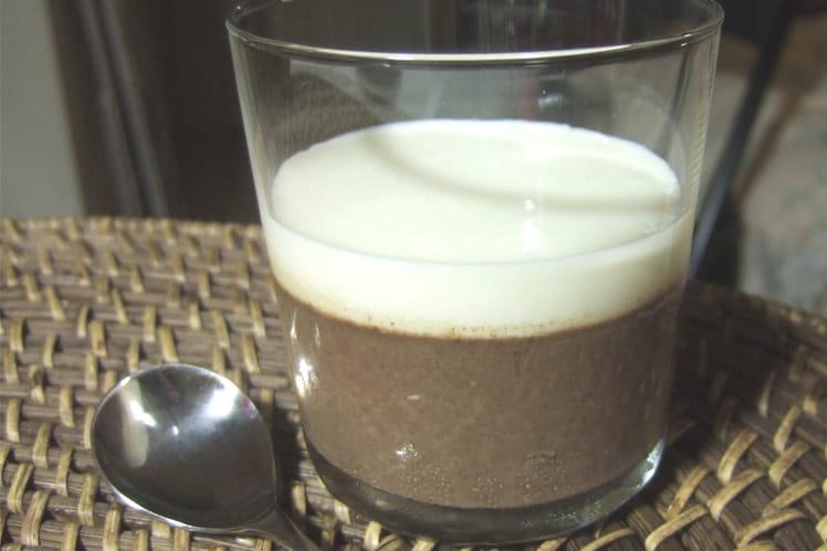 Panna cotta aux deux chocolats