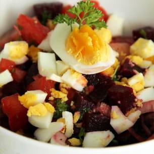 salade de betteraves à l'œuf dur