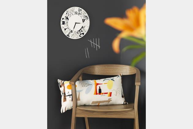 horloge murale onskedrom ikea. Black Bedroom Furniture Sets. Home Design Ideas