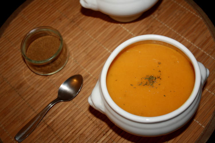 Potage au choux fleur, carotte et cumin