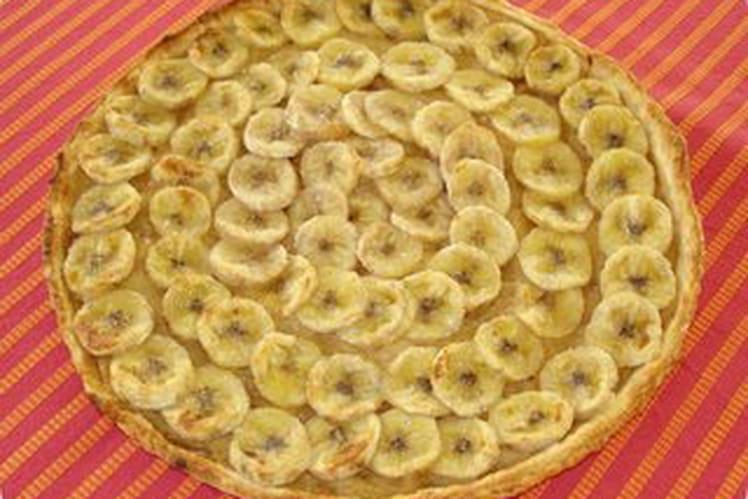 Tarte à la banane et à la compote