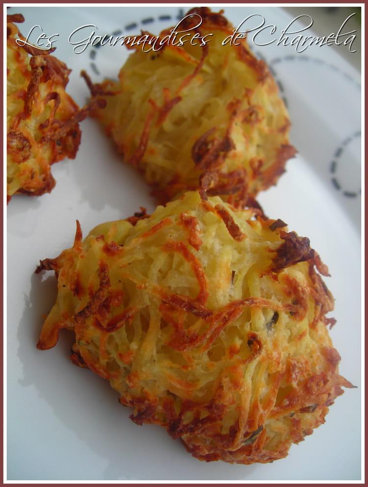 Recette de galettes de pommes de terre et parmesan la - Recette de cuisine a base de pomme de terre ...