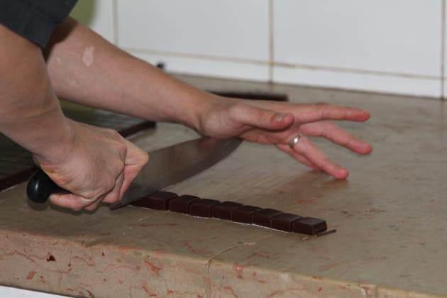 Découpe des caramels