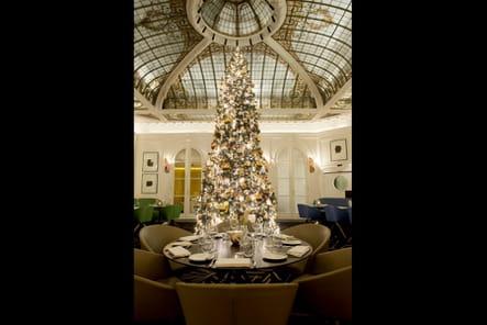 Le sapin de Noël de l'Hôtel Vernet