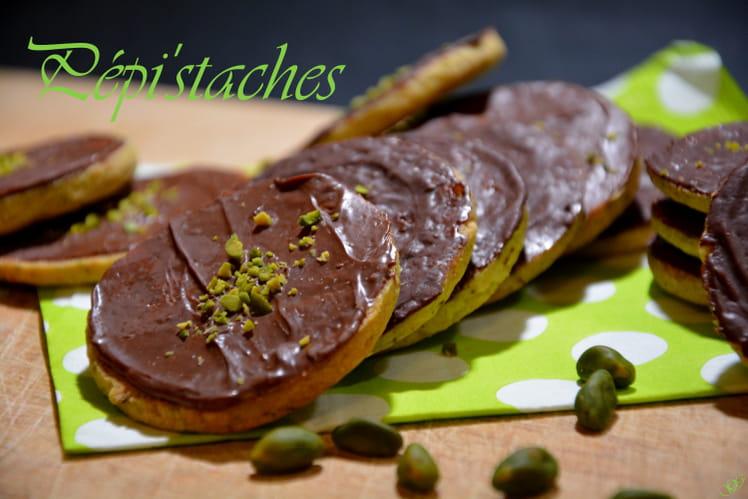 Biscuits pistache chocolat Pépi'staches