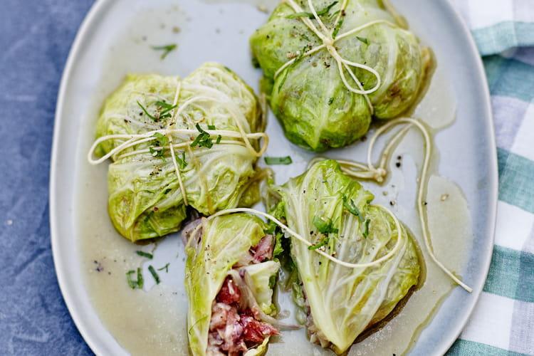 Pieds de porc croustillants en petits paquets verts