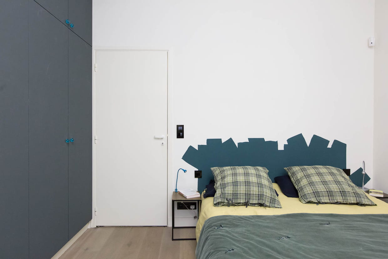 Tete De Lit Bleu Canard Peinture une tête de lit bleu canard