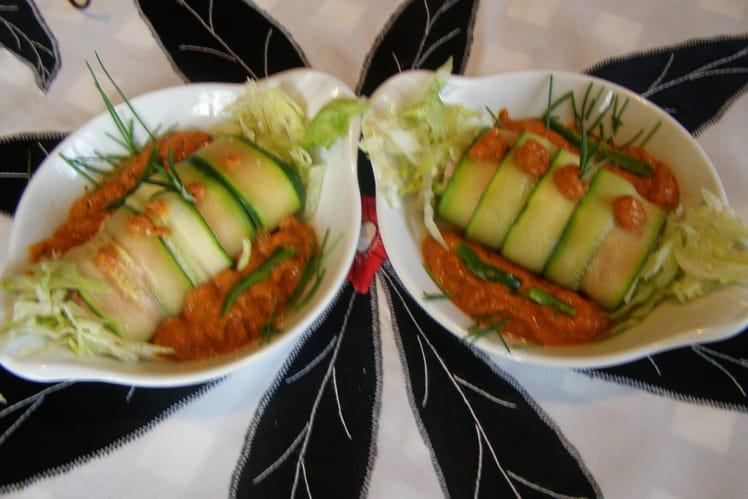 Cannellonis de courgettes au fromage et jambon
