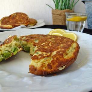 pancakes au fromage de chèvre et petits pois sans gluten