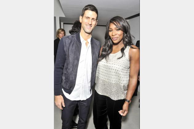 Novak Djokovic et Serena Williams
