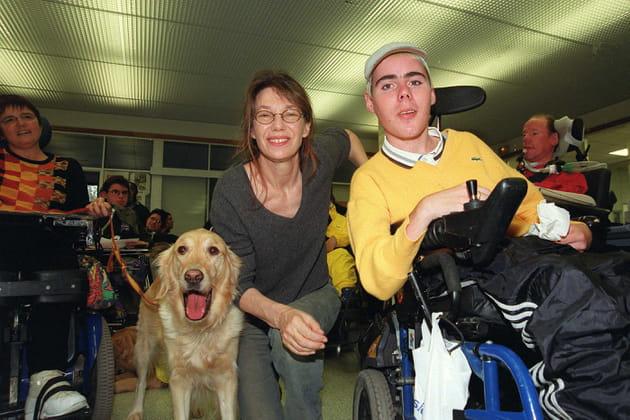 Marraine du Téléthon en 2001