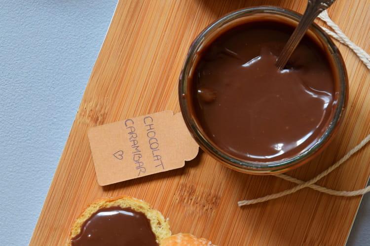 Pâte à tartiner carambar/chocolat